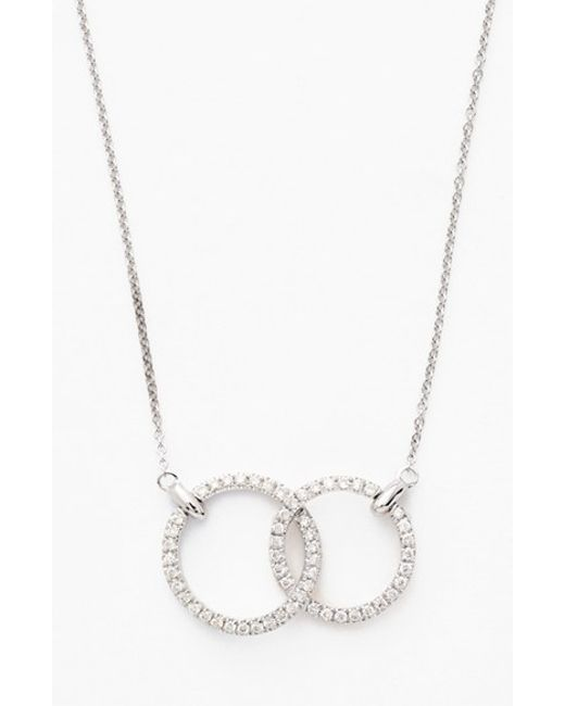 bony levy circle pendant necklace in silver