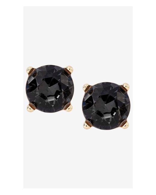 Express | Black Round Rhinestone Post Earrings | Lyst