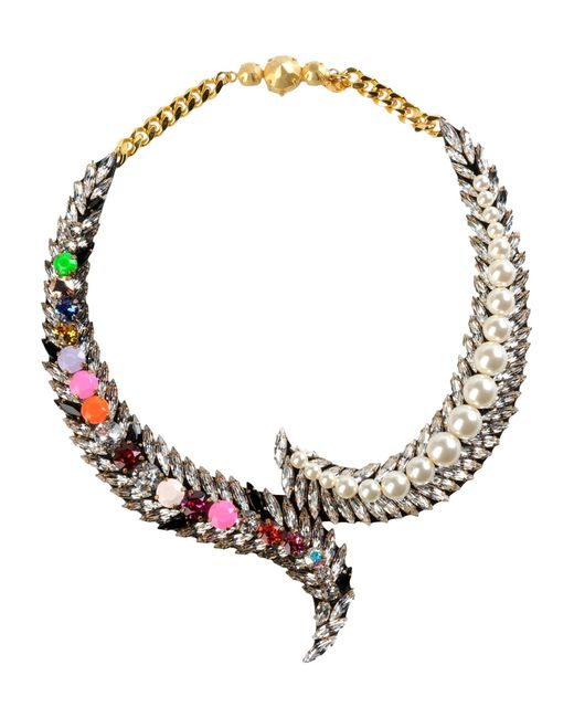 Shourouk | Metallic Electro Storm Necklace | Lyst