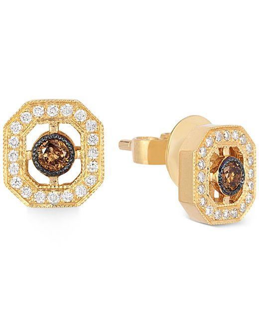 Le Vian   Metallic Chocolatier® Chocolate Deco Estate™ Gold Diamond (1/4 Ct. T.w.) Stud Earrings In 14k Gold   Lyst