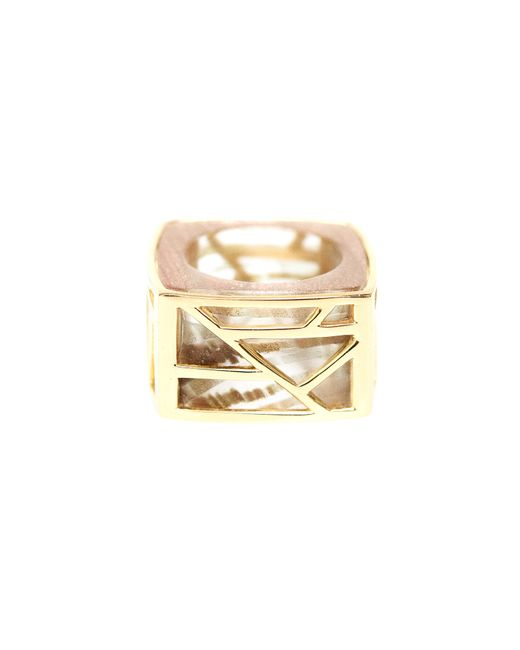 Ona Chan Jewelry | Metallic Square Cocktail Ring Gold | Lyst