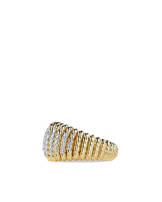 David Yurman   Metallic Tempo Ring With Diamonds In 18k Gold   Lyst