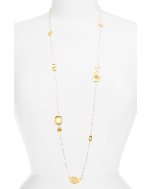 Marco Bicego | Metallic 'lunaria' Long Station Necklace | Lyst