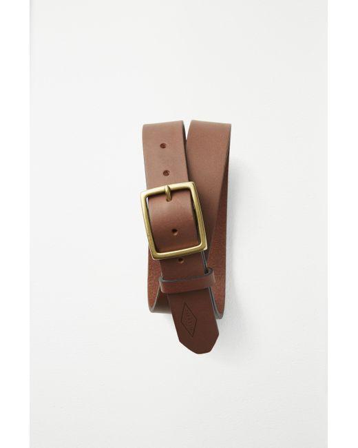 Rag & Bone   Brown Rugged Belt Brass for Men   Lyst