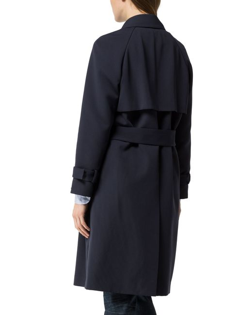 tommy hilfiger georgia trench coat in blue navy save. Black Bedroom Furniture Sets. Home Design Ideas
