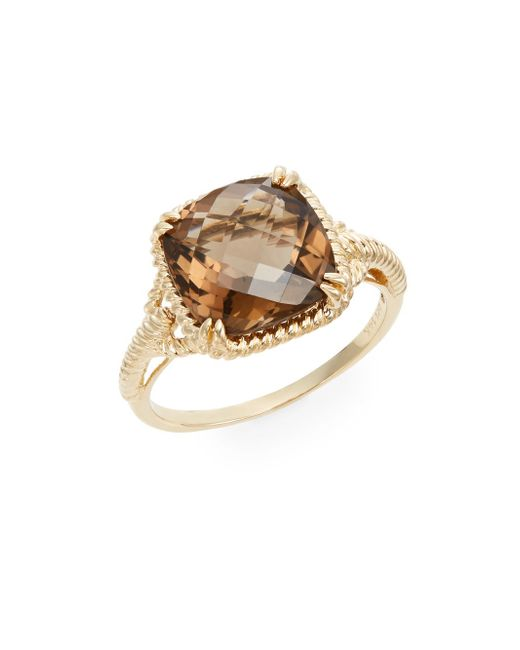 Effy Smoky Quartz Amp 14k Yellow Gold Ring In Brown Gold