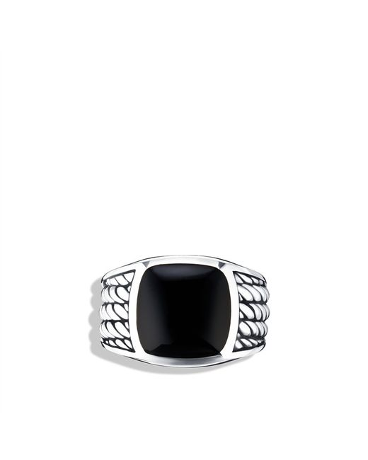 David Yurman | Maritime Rope Signet Ring with Black Onyx for Men | Lyst