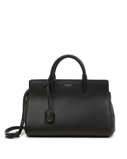 Saint Laurent | Black Monogram Cabas Small Leather Satchel | Lyst