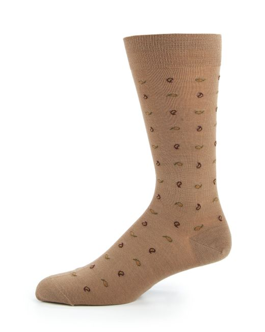 Pantherella Penrose Paisley Socks in Beige for Men (camel ...