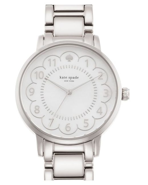 kate spade new york | Metallic 'gramercy' Scalloped Dial Bracelet Watch | Lyst