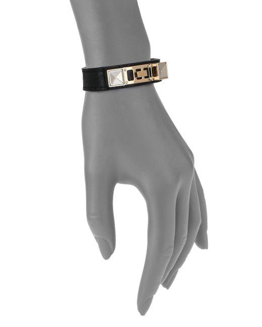 Proenza Schouler | Black Ps11 Small Crocodile-embossed Leather Bracelet | Lyst