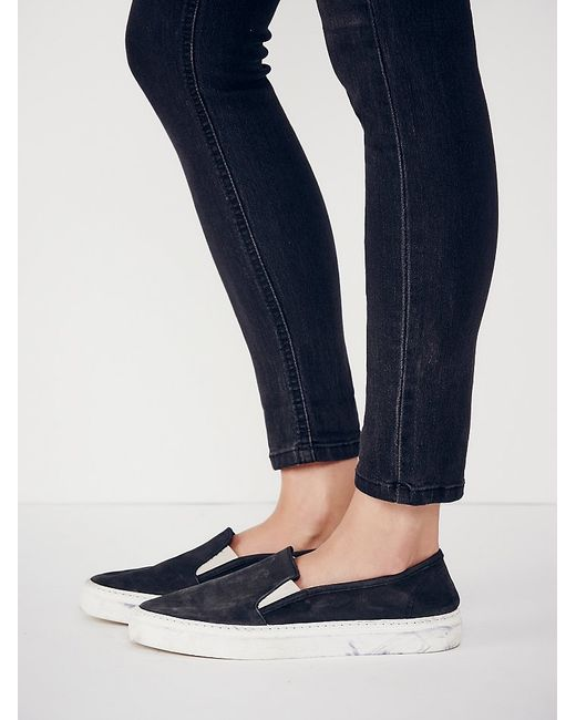 Free People | Black Clayton Slip On Sneaker | Lyst