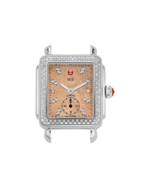 Michele deco 16 diamond metallic rose gold diamond dial for Deco maison rose gold