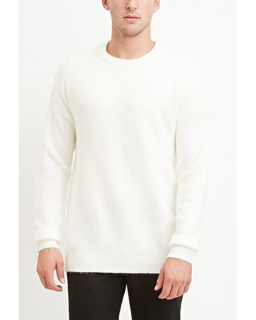 Forever 21 | White Dropped-sleeve Sweater for Men | Lyst