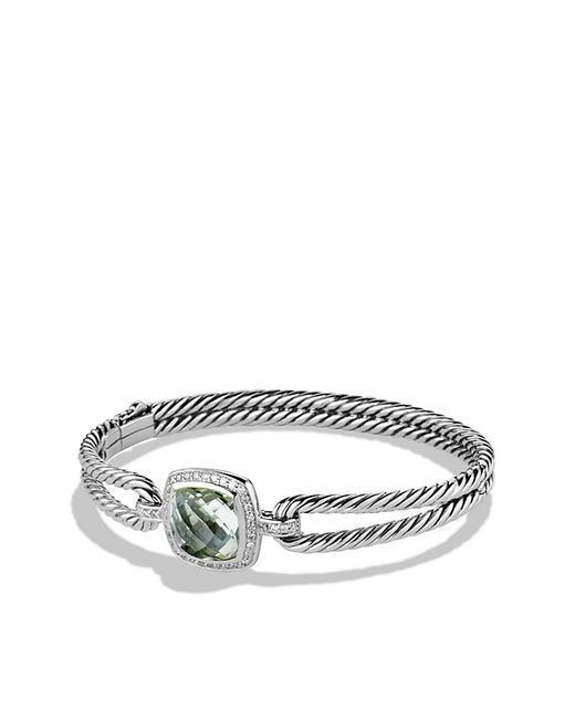 David Yurman | Metallic Albion Bracelet With Prasiolite And Diamonds | Lyst