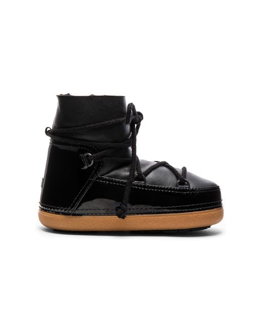 Ikkii | Black Lace-Up Rabbit-Fur Snow Boots | Lyst