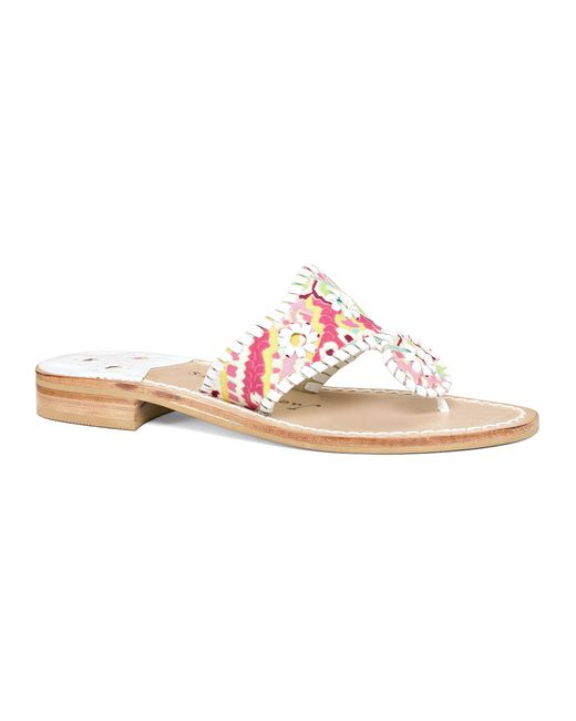 Jack Rogers | Pink Exclusive Paisley Sandal | Lyst