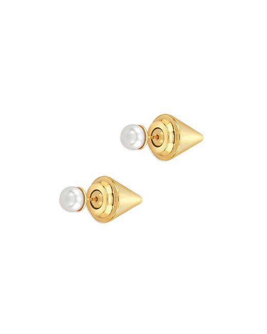 Vita Fede | Metallic Titan Stone Earrings In Yellow Gold And Pearl | Lyst
