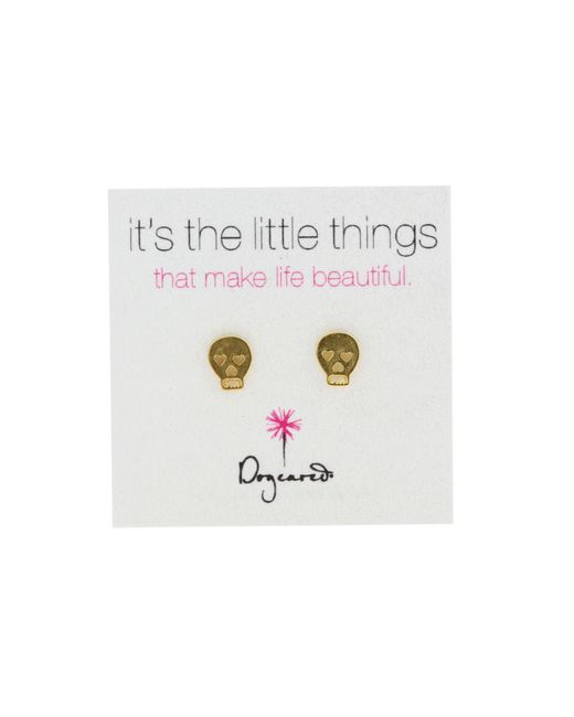 Dogeared | Metallic It's The Little Things Earrings Skull | Lyst