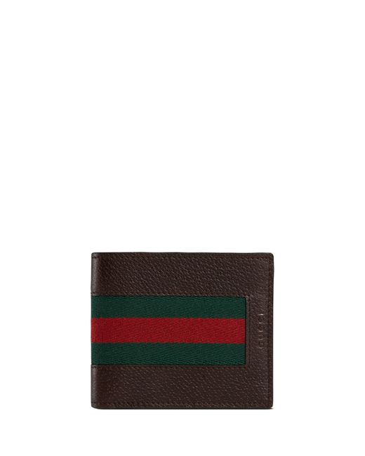9120184ca545 Gucci Leather Bi-fold Wallet With Web | Stanford Center for ...