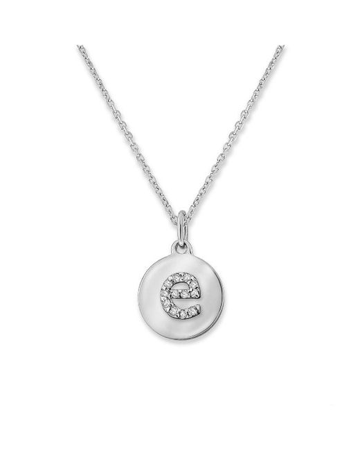 KC Designs   White 14k Gold And Diamond Lowercase Initial Necklace, E   Lyst