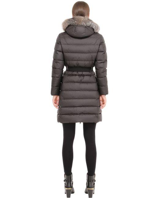 Moncler   Black Khloe Fur-trimmed Down Coat   Lyst