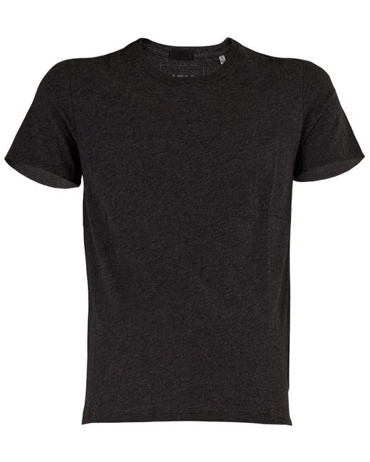 Atm crew neck jersey t shirt in gray for men charcoal for Atm t shirt sale
