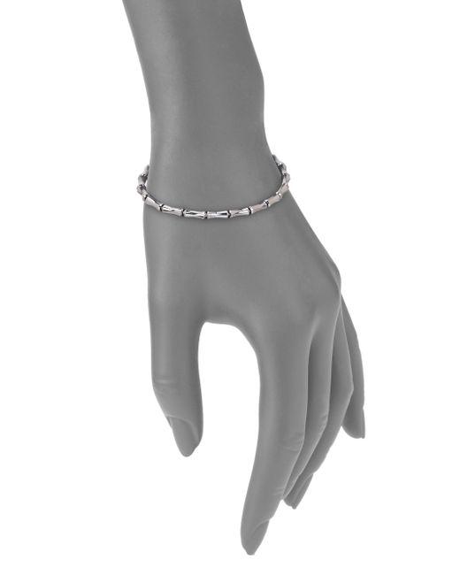 Gucci | Bamboo 18k White Gold Thin Bracelet | Lyst