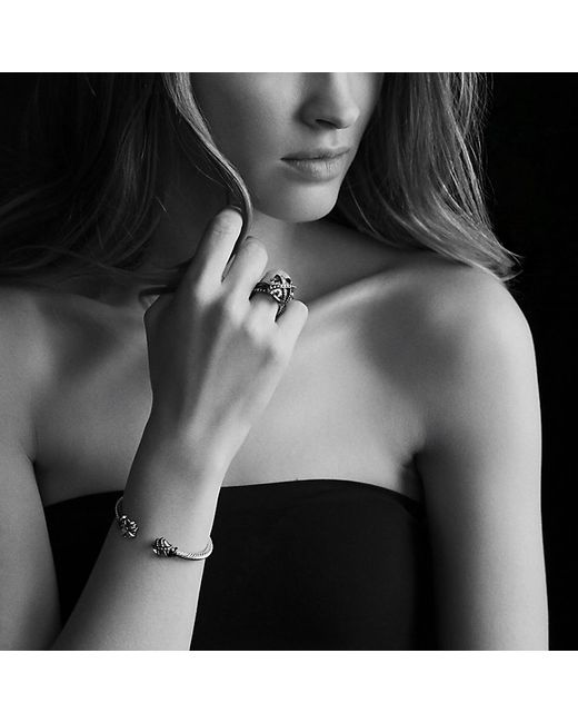 David Yurman | Cable Wrap Bracelet With Blue Topaz And Diamonds | Lyst