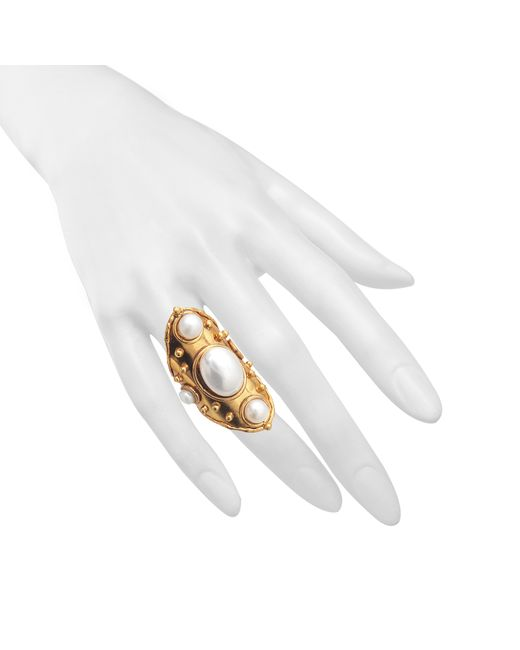 Sylvia Toledano | Metallic Byzance Pearls Ring | Lyst