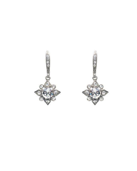 Oscar de la Renta | Metallic Swarovski Crystal Petite Drop Earrings | Lyst