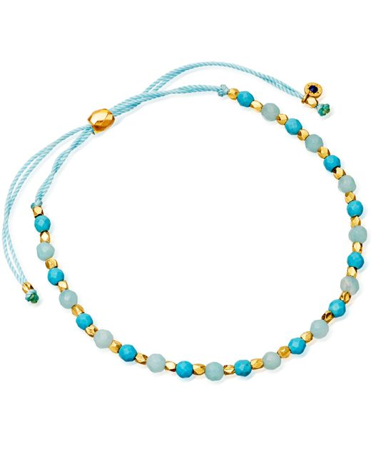Astley Clarke | Blue Evil Eye 18ct Yellow-gold Vermeil Kula Bracelet | Lyst
