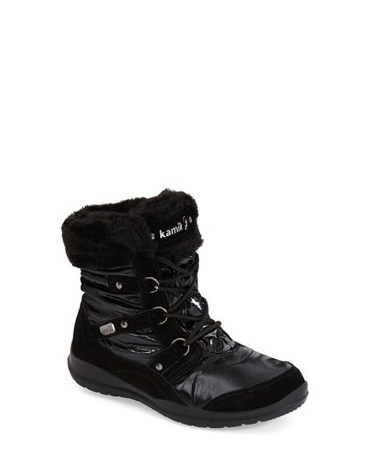 Kamik | Black 'sofia' Waterproof Boot | Lyst