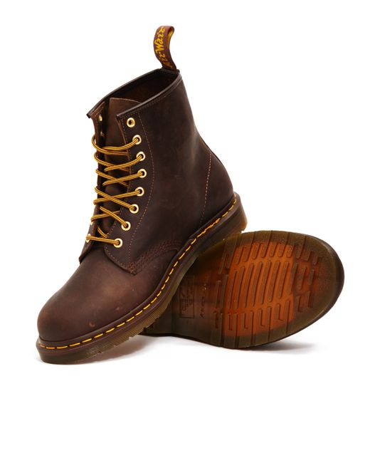 dr martens 8 eye rugged boots brown in brown for lyst