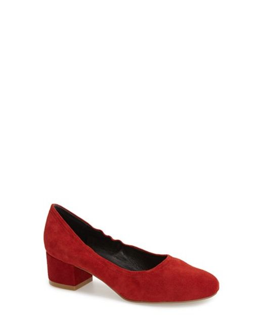 Jeffrey Campbell | Red 'Bitsie' Round Toe Pump | Lyst