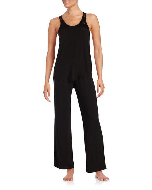 Betsey Johnson | Black Tank & Pajama Set | Lyst