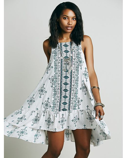 Free People | Blue Into You Slip Dress | Lyst