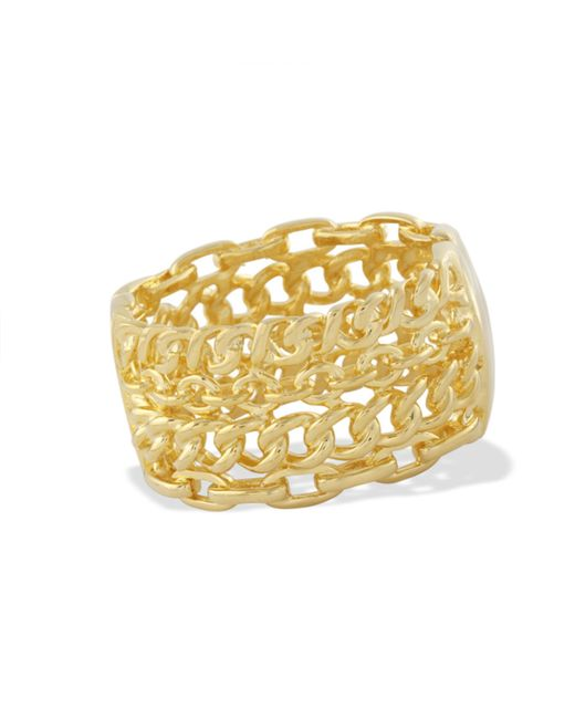 Kenneth Jay Lane | Metallic Polished Gold Cuff | Lyst