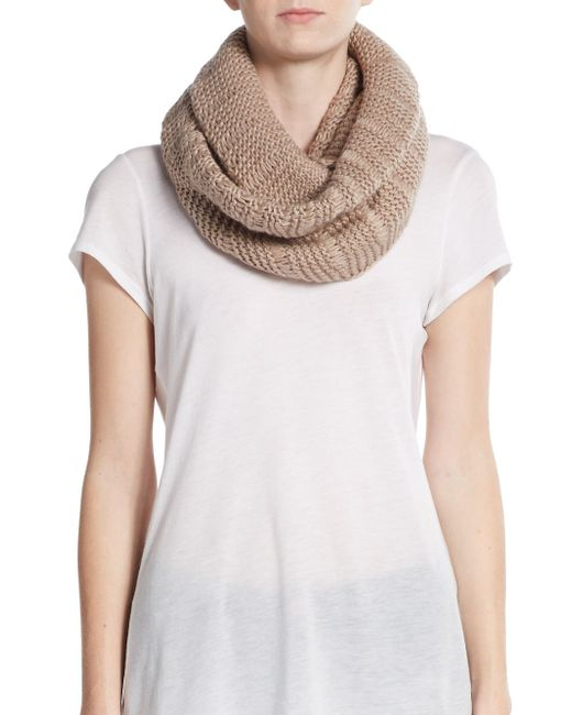 Vince Camuto | Brown Dropped Stitch Circle Scarf | Lyst