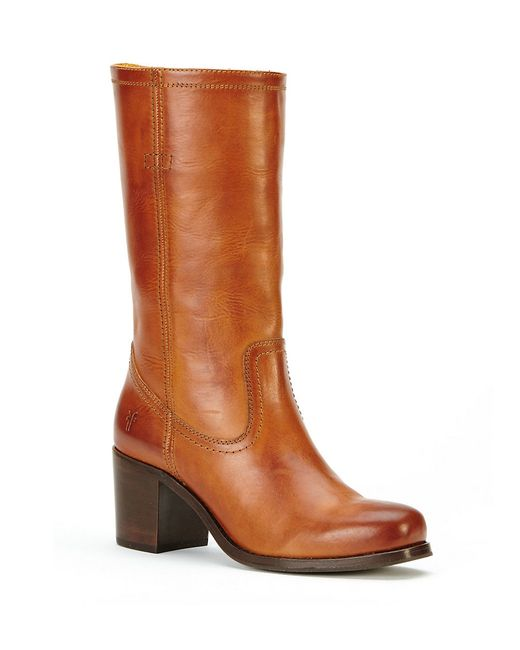 Frye | Brown Kendall Mid-calf Leather Boots | Lyst