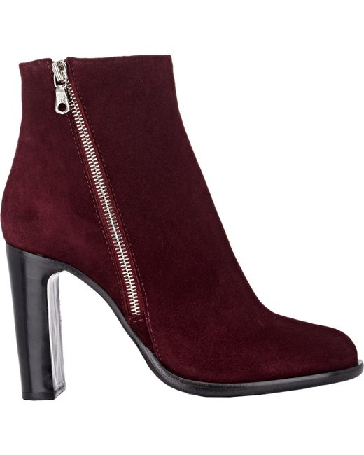 Rag & Bone | Red Avery Suede Ankle Boots | Lyst
