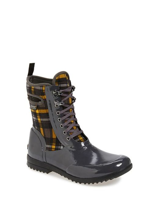 Bogs | Gray 'sidney' Lace-up Waterproof Boot | Lyst