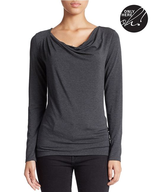 Lord & Taylor | Multicolor Petite Draped Neck Blouse | Lyst