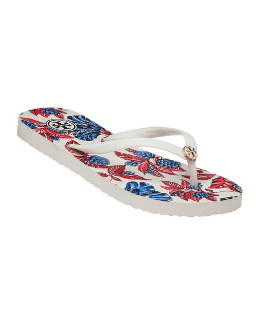 Tory Burch | Red Thin Rubber Flip-Flops  | Lyst