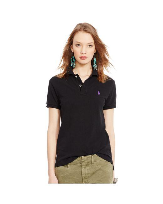 Polo Ralph Lauren | Black Classic Fit Mesh Polo Shirt | Lyst