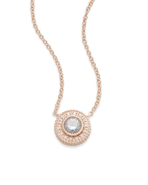 Freida Rothman | Pink Signature 14k Rose Gold Nautical Button Pendant Necklace | Lyst