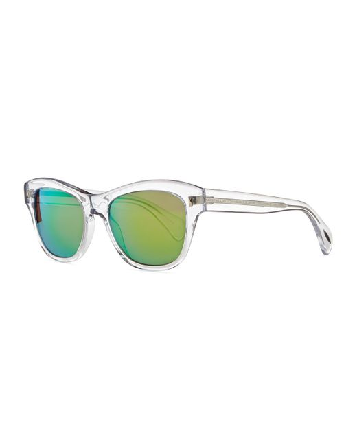 23c6150572c Oliver Peoples Green Mirrored Aviator Sunglasses « Heritage Malta