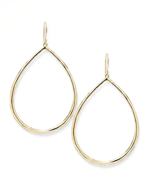 Ippolita | Metallic Wire Teardrop Hoop Earrings | Lyst