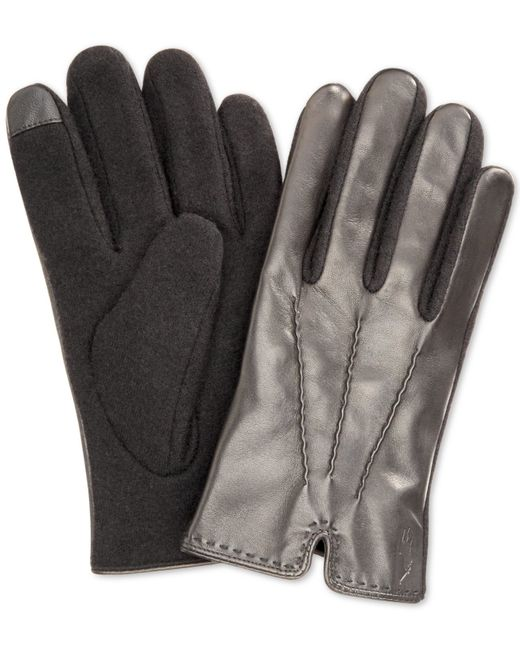Polo Ralph Lauren | Black Hand-stitched Nappa Touch Glove for Men | Lyst