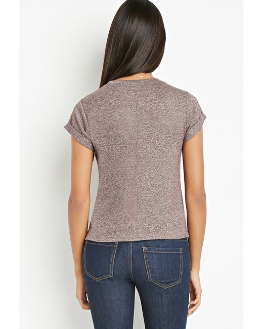 Forever 21 | Brown Contemporary Heathered Sweater Tee | Lyst